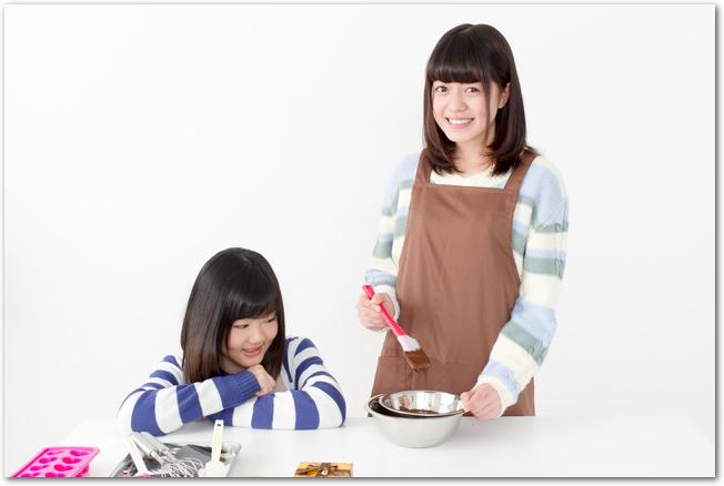 女の子ふたりで作るバレンタインチョコレート