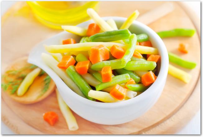 いろとりどりの冷凍野菜