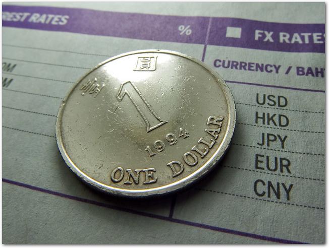 香港ドルをはじめ外貨レートの表とコイン