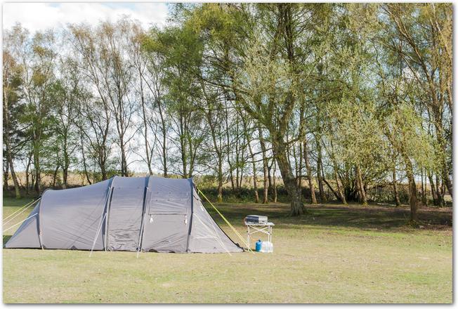 キャンプ場に張られたテント