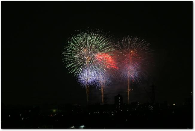 彩夏祭の花火イベントのようす