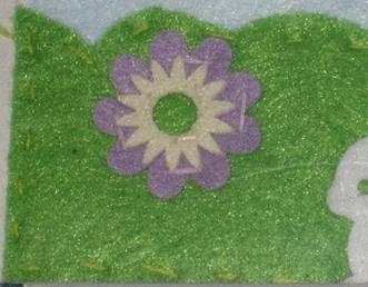 フェルト細工の縫い付け方