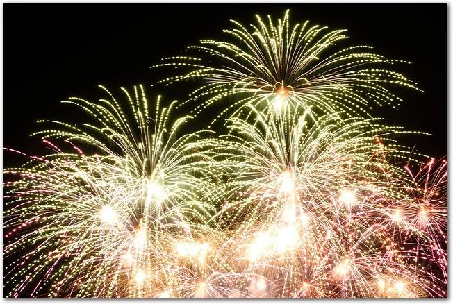 伊丹花火大会の打ち上げ花火の様子