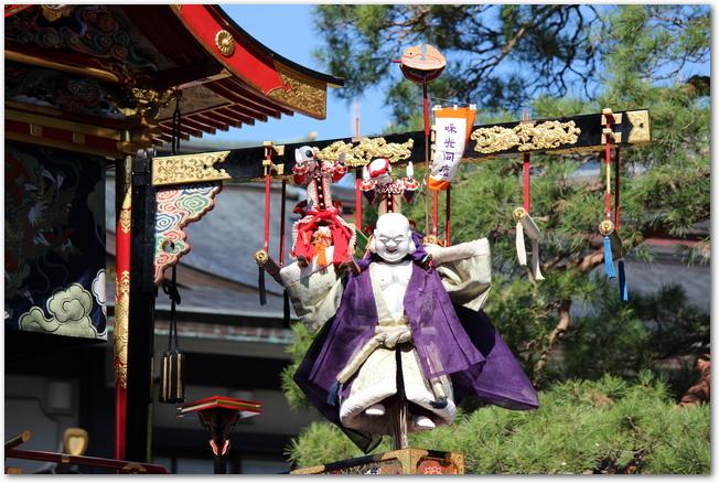 秋の高山祭のからくり披露の人形