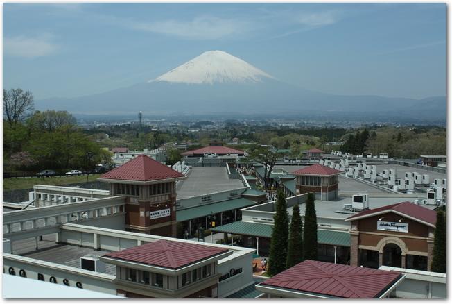 富士山と御殿場プレミアムアウトレットの外観